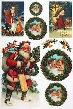 Rice Paper for Decoupage Decopatch Scrapbook Craft Sheet Happy Santa