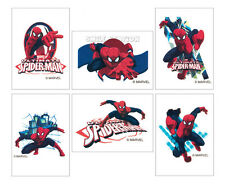 12 Ultimate Spiderman Temporary Tattoos Kid Party Goody Loot Bag Favor Supply