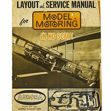 1960s Aurora Slot Car Track Layout Service Manual Instructions Book Vintage Old