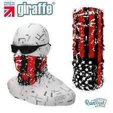 G397 USA Red Black Flag Headgear Neckwarmer multifunctional Bandana Headband