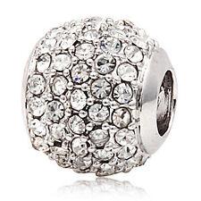 Andante-stones plata cristal bead circonita nieve Weiss blanco #3114 + regalo