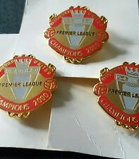 3 x Manchester United Premier League Champions 2000 Football Brooch Pin Badge