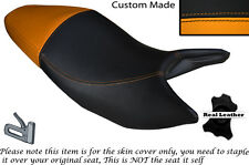 BLACK & ORANGE CUSTOM FITS HONDA HORNET CB 600 F 03-06 DUAL SEAT COVER
