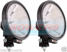 "PAIR OF SIM 12V/24V 9"" ROUND SPOTLIGHTS SPOTLAMPS CAB TOP BAR TRUCK LORRY 4x4"