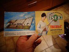 Catalogue Ancien Motoculteur Tondeuse ISEKI importés par  Yvan Beal