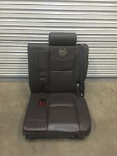 2007-2014 ESCALADE PLATINUM EDITION 3RD ROW SEAT COCO BROWN LEATHER DRIVER SIDE