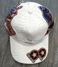 ROBIN'S JEAN EMBELLISHED AMERICANA PATCHWORK CAP HAT OSFA 100% AUTHENTIC