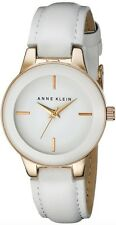 Anne Klein Watch * 2032RGWT Rose Gold White Leather Ivanandsophia COD PayPal