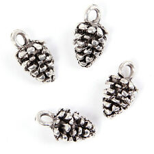 70pcs Charms Pine Cone Style Antique Silver Alloy Pendent Findings Supplies D