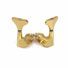 Gold 3L3R Electric Bass String Sealed Tuners Tuning Pegs Keys Machine Heads Set