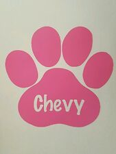 Custom Paw Print with Pet's Name  ***AVAILABLE IN 20 COLORS***
