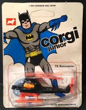 Corgi junior #78 51039 batman batcopter 1976-cardées, scellé & rare non perforé