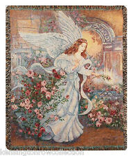 """THROWS - ANGEL OF LOVE TAPESTRY THROW - 50"""" X 60"""" THROW"""