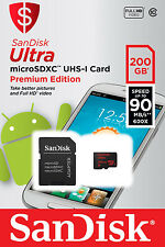 200 GB Micro SD Memory Card Class 10 SanDisk Ultra With Adapter Full HD Video