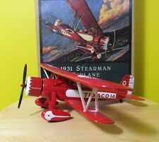 1995 'Wings of Texaco' Ertl die-cast metal coin bank 1931 Stearman Biplane