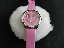 "New ""Happy Face"" Quartz Ladies Watch with a Pink Band"