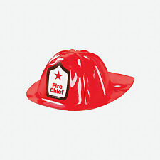 12 Red FIREMAN HATS Dozen FIRE FIGHTER Kids Child Birthday Party Favors