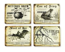 4 HALLOWEEN WITCH WICCA SPELL MAGIC POTION BOTTLE POISON STICKER LABELS
