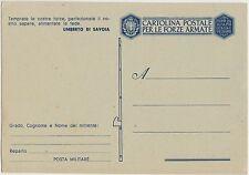 FRANCHIGIA WW2 FRASE UMBERTO DI SAVOIA - FASCIO VUOTO - NUOVA