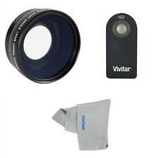 WIDE ANGLE FISHEYE LENS + REMOTE FOR CANON EOS REBEL T1I T2I T3I T4I T5I T3 T5