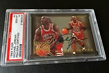 SIGNED 1993-94 FLEER LIVING LEGENDS MICHAEL JORDAN PSA 10 PSA/DNA & UDA COA AUTO
