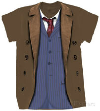 Doctor Who - 10th Doctor Costume T-Shirt XL - Brown