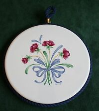 Poppies on Blue Round Trivet, Lenox China