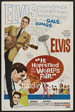 ELVIS PRESLEY - IT HAPPENED AT THE WORLD'S FAIR - QUALITY VINTAGE MOVIE POSTER