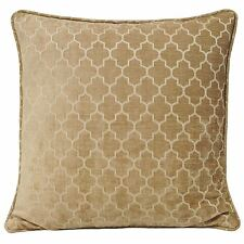 """MODERN CHAINLINK CHENILLE WOVEN NATURAL CREAM BEIGE THICK CUSHION COVER 22"""""""