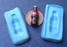 1:12 Reutilizable alimentos seguros 2 parte Botella De Coca Cola mold/mould Set Casa De Muñecas En Miniatura