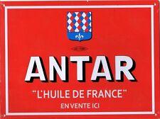 """Plaque en métal """"Antar L'Huile de France en vente ici"""" (21x28 cm) - Norev"""