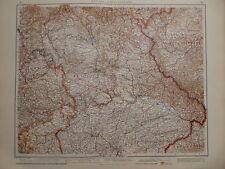 Landkarte mittleres Süddeutschland - Bayern, V&K 1937