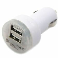 Dual 2 Port USB 2.1A Car Charger White for HTC One M8 M7 Inspire EVO 4G S V X