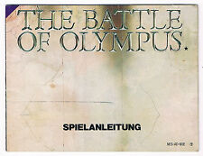 RARE NOTICE VERSION ALLEMAGNE POUR CONSOLE NINTENDO NES : THE BATTLE OF OLYMPUS