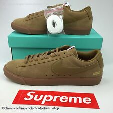 SUPREME NIKE SB BLAZER Bajo GT QS Zapatillas SUPREME X Marrón Bronceado Zapatos UK 11 Ltd