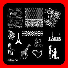 Manicure Nail Art Stamping Plates Stainless Steel Nail Art Stamp Template DIY/04