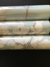 Three 3 X Laura Ashley Millwood Duck Egg Blue wallpaper rolls