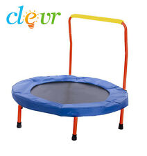 "NEW Clevr 36"" Trampoline w/ Handle Non Enclosed Safety padded frame Kids"