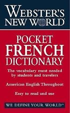 Pocket French English Dictionary Vocabulary Gramar Students & Travelers 01 Webst