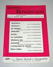 Spartiti BATTISTA BONGIOVANNI 10 brani Mister Folk Orchestra Liscio Fisarmonica
