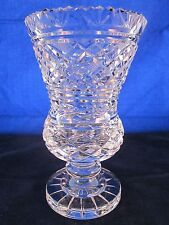"""WATERFORD CRYSTAL GOTHIC MARK Vase 7"""" 1970s #242-917-59 Master Cut"""