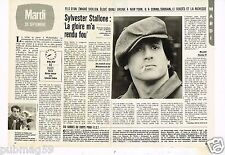 Coupure de presse Clipping 1983 (2 pages ) Sylvester Stallone