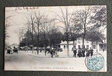 CPA. LE PARC SAINT MAUR. 94 - La Place de la Gare. 1905.