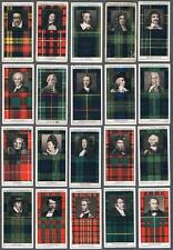 1927 Stephen Mitchell Clan Tartans A Series Tobacco Cards Complete Set of 50