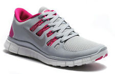Nike K Free 5.0+ Women's Running Shoes 580591-061 Gray, Silver, Pink Sz 7