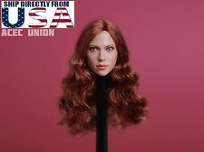 1/6 Scarlett Johansson Black Widow 7.0 Head Sculpt A For Hot Toys Phicen U.S.A.