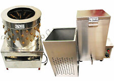 RITE FARM PRODUCTS LARGE PRO CHICKEN PLUCKER & 18.5 GAL SCALDER COMBO POULTRY