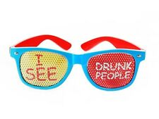 I See Drunk People Party Glasses Stag or Hen Night Festival Fancy Dress