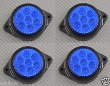 4x 7 LED Lateral Marcador Azul Luces 24V Camión Chasis De Remolque para DAF