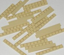 Lego New Tan Tiles 1 x 8 Flat Smooth Pieces Parts
